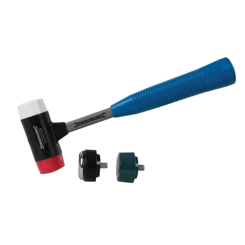 Silverline 633905 4-in-1 Multi-Head Hammer 35mm Diameter Face